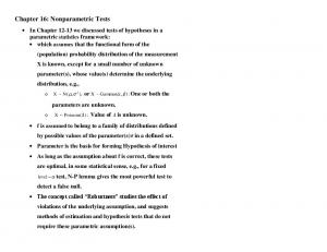 Chapter 16: Nonparametric Tests