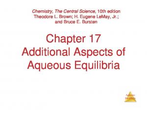 Chapter 17 Additional Aspects of