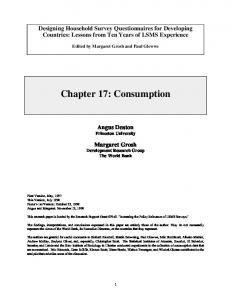 Chapter 17: Consumption