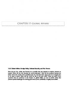 CHAPTER 17: Global Affairs