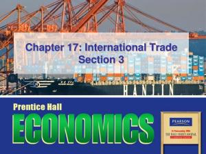 Chapter 17: International Trade Section 3