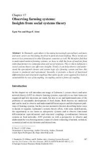 Chapter 17 Observing farming systems: Insights from social systems theory