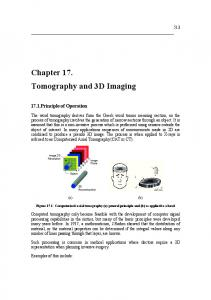 Chapter 17. Tomography and 3D Imaging