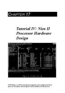 CHAPTER 17. Tutorial IV: Nios II Processor Hardware Design