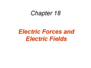Chapter 18. Electric Forces and Electric Fields