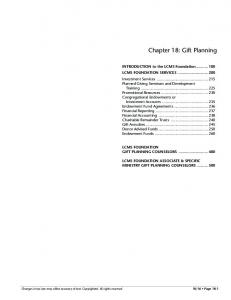 Chapter 18: Gift Planning