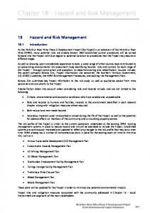 Chapter 18 Hazard and Risk Management
