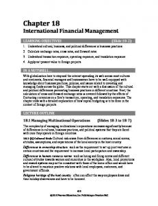 Chapter 18 International Financial Management
