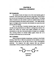 CHAPTER 18 MEDICINAL CHEMISTRY