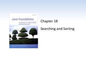 Chapter 18. Searching and Sorting
