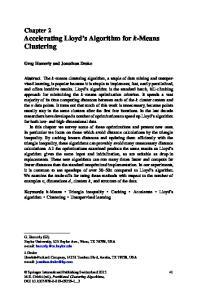 Chapter 2 Accelerating Lloyd s Algorithm for k-means Clustering