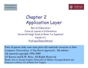 Chapter 2 Application Layer