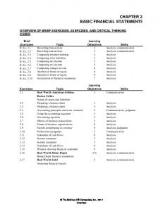 CHAPTER 2 BASIC FINANCIAL STATEMENTS