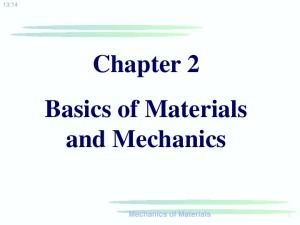 Chapter 2 Basics of Materials and Mechanics