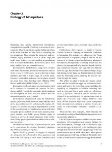 Chapter 2 Biology of Mosquitoes