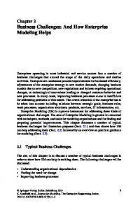 Chapter 2 Business Challenges: And How Enterprise Modeling Helps