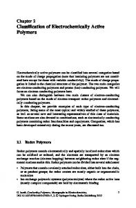 Chapter 2 Classification of Electrochemically Active Polymers