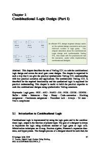 Chapter 2 Combinational Logic Design (Part I)