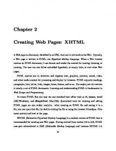 Chapter 2. Creating Web Pages: XHTML