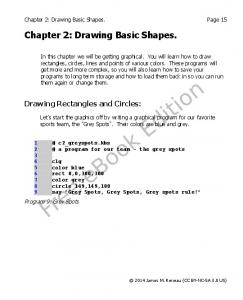 Chapter 2: Drawing Basic Shapes