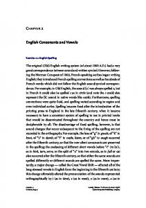 Chapter 2. English Consonants and Vowels