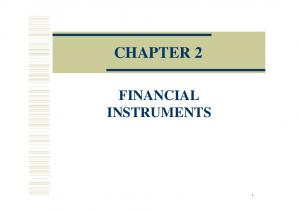 CHAPTER 2 FINANCIAL INSTRUMENTS