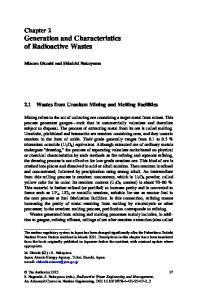 Chapter 2 Generation and Characteristics of Radioactive Wastes