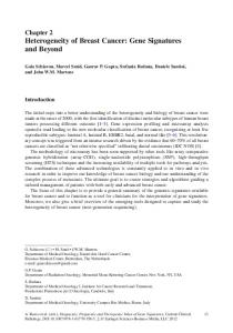 Chapter 2 Heterogeneity of Breast Cancer: Gene Signatures and Beyond