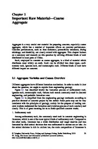 Chapter 2 Important Raw Material Coarse Aggregate