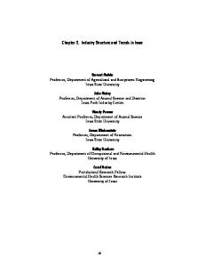 Chapter 2. Industry Structure and Trends in Iowa