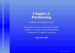 Chapter 2: Partitioning p.1