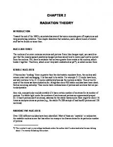 CHAPTER 2 RADIATION THEORY