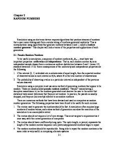Chapter 2 RANDOM NUMBERS