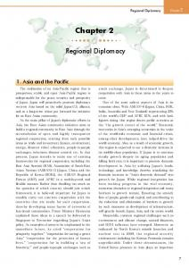 Chapter 2. Regional Diplomacy. 1. Asia and the Pacific. Regional Diplomacy Chapter 2