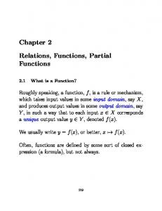 Chapter 2. Relations, Functions, Partial Functions