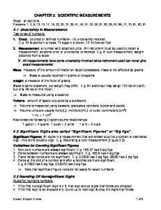 CHAPTER 2. SCIENTIFIC MEASUREMENTS