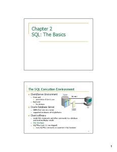 Chapter 2 SQL: The Basics