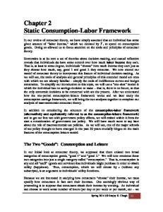 Chapter 2 Static Consumption-Labor Framework