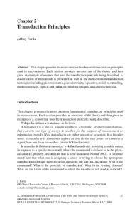 Chapter 2 Transduction Principles