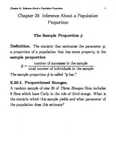 Chapter 20. Inference About a Population Proportion
