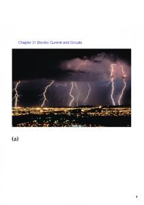 Chapter 21 Electric Current and Circuits