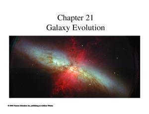 Chapter 21 Galaxy Evolution