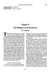 Chapter 21 The Etiology of Anorexia Nervosa
