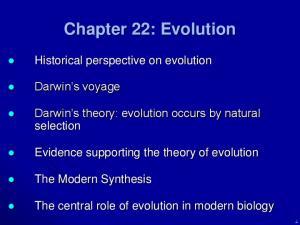 Chapter 22: Evolution