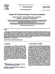 Chapter 24: Psychosocial aspects of vaccine acceptability