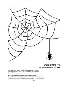 CHAPTER 24 The Best Control for Spiders