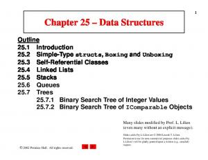 Chapter 25 Data Structures