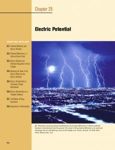 Chapter 25. Electric Potential