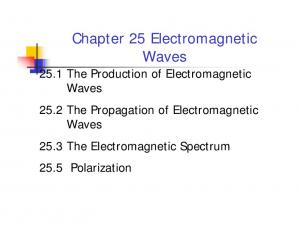 Chapter 25 Electromagnetic Waves