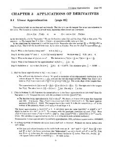 CHAPTER 3 APPLICATIONS OF DERIVATIVES